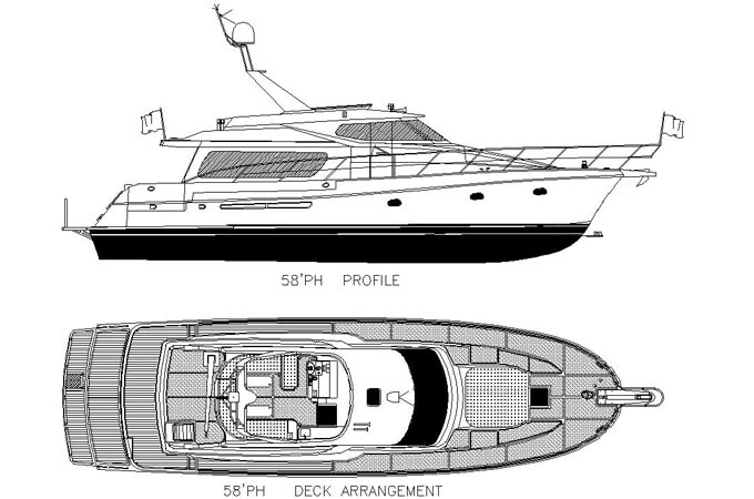 56ft fiberglass yacht design