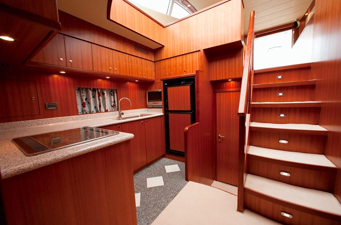 56ft fiberglass yacht interior