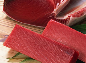 Fresh tuna fish sashimi