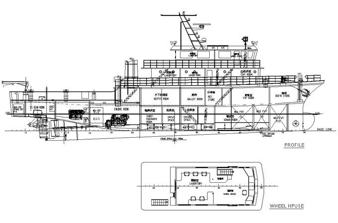 the design of working boat Polaris